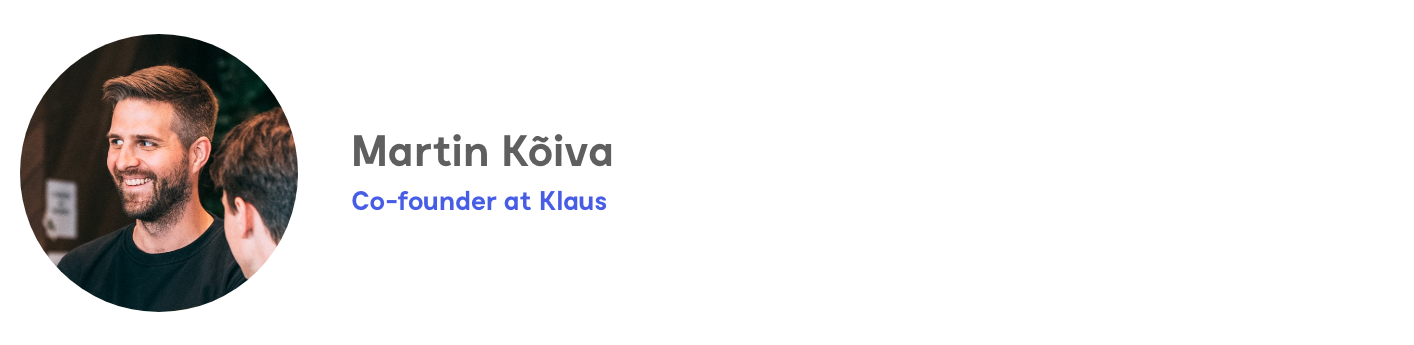 Martin Kõiva, co-founder of Klaus